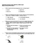5th Grade Spanish Science Assessment - Energía alternativa, clima, tiempo, etc.