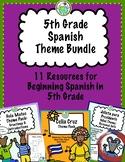 5th Grade Spanish Theme Pack Bundle