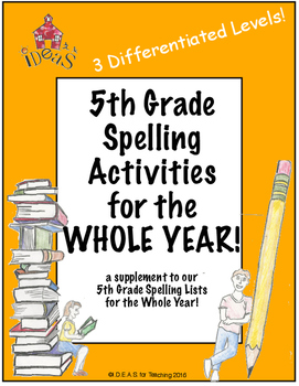 5th Grade Spelling Activities for the Whole Year! (Differe