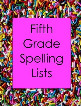 5th Grade Spelling Lists and Practice Worksheets Plurals Homophones SALE