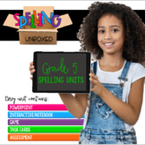 5th Grade Spelling Units Growing BUNDLE