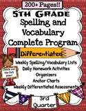 5th Grade Spelling and Vocabulary Complete Program 3rd Quarter