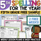 5th Grade Spelling and Vocabulary Program - 2 FREE Weeks!