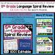 5th Grade Language Homework 5th Grade Morning Work Spiral