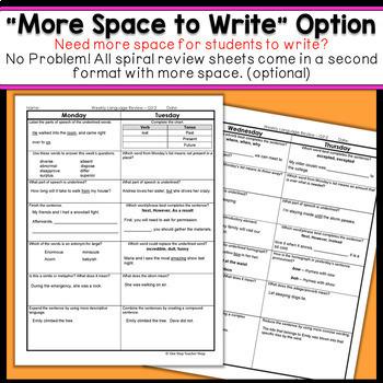 Grade language spiral review 5th grade grammar practice 3rd 5th grade language spiral review 5th grade grammar practice 3rd quarter sciox Images