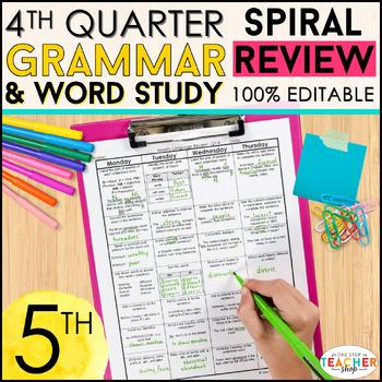 5th Grade Language Spiral Review | 5th Grade Grammar Practice | 4th Quarter