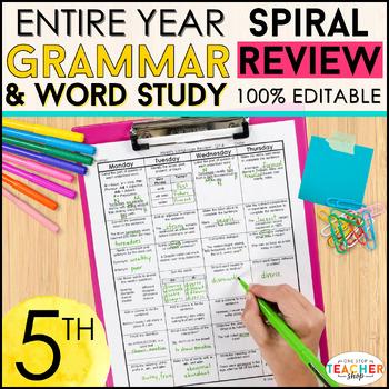 5th Grade Language Homework 5th Grade Morning Work 5th Grade Grammar Review