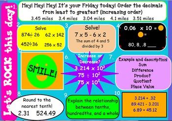 5th Grade Spiral Math!