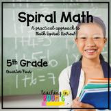 DIGITAL:  5th Grade Spiral Math Homework and Quizzes -- Qu