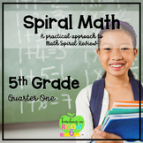 5th Grade Spiral Math Homework and Quizzes -- Quarter ONE