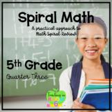 DIGITAL:  5th Grade Spiral Math Homework and Quizzes -- Quarter THREE