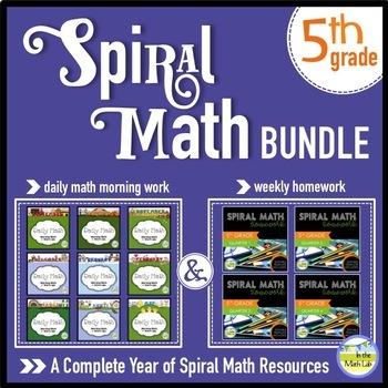 5th Grade Spiral Math MEGA BUNDLE