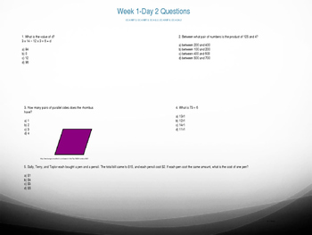 Common Core 5th Grade Daily Math Review