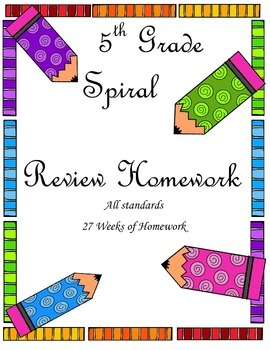 5th Grade Spiral Review Homework (Entire Year)