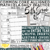 5th grade Bell Ringer / Daily Math & Language Grammar Spiral Review ENTIRE YEAR