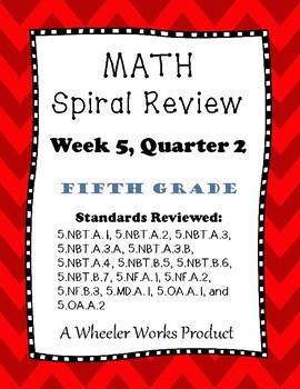 5th Grade Spiral Review Quarter 2, Week 5