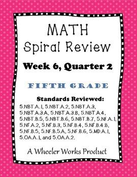 5th Grade Spiral Review Quarter 2, Week 6