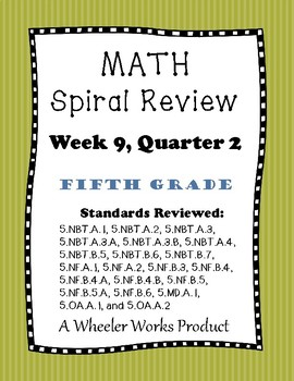 5th Grade Spiral Review Quarter 2, Week 9