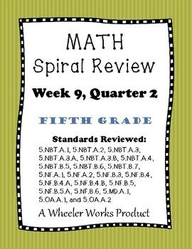 5th Grade Spiral Review Quarter 2, Week 9