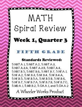 5th Grade Spiral Review Quarter 3, Week 1
