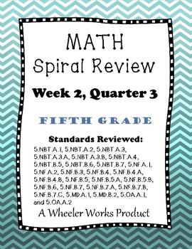5th Grade Spiral Review, Quarter 3 Week 2