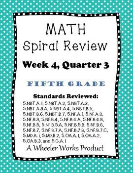 5th Grade Spiral Review, Quarter 3 Week 4