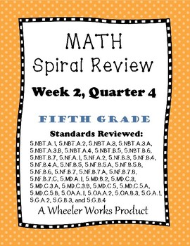 5th Grade Spiral Review, Quarter 4 Week 2
