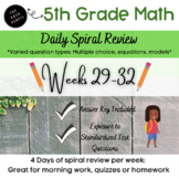 5th Grade Spiral Math Review Weeks Unit Conversions 29-32