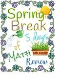 5th Grade Spring Break Packet - Georgia Standards; Georgia Milestones practice