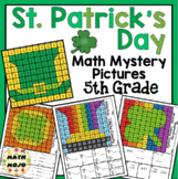 5th Grade St. Patrick's Day Math: 5th Grade Math Mystery Pictures