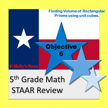 5th Grade Math STAAR Review - Objective 6