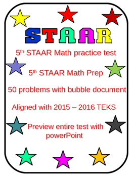 5th Grade STAAR Math Test II (50 problems)