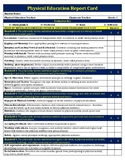 5th Grade Standard Based Physical Education Report Card