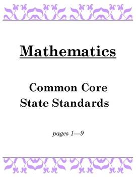 5th Grade Standards