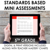 Distance Learning 5th Grade Standards Based Mini Assessmen
