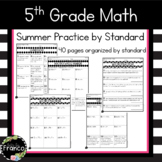 5th Grade Math Summer Packet Common Core Standards