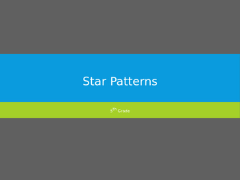 5th Grade Star Patterns/Constellations PowerPoint
