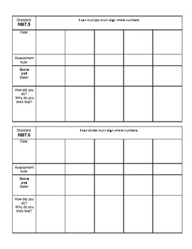 5th Grade Student Data Notebook