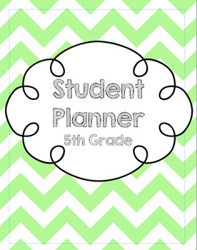 5th Grade Student Planner/Agenda