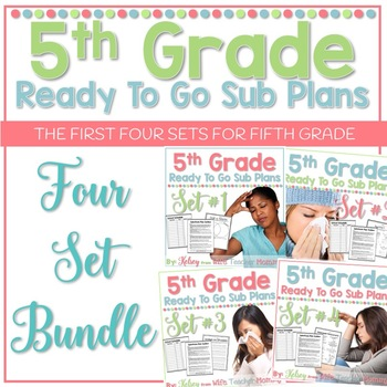 5th Grade Sub Plans Ready To Go for Substitute. No Prep. FOUR full days.