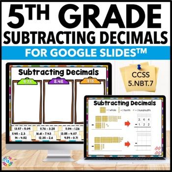 5th Grade Subtracting Decimals {5.NBT.7} Digital Practice - Google Classroom