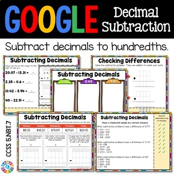 5th Grade Subtracting Decimals {5.NBT.7} Digital Practice - Google Classroom