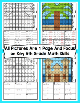 5th Grade Summer Math: 5th Grade Math Mystery Pictures
