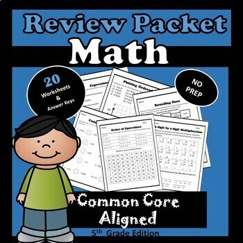 5th Grade Back to School Review Packet