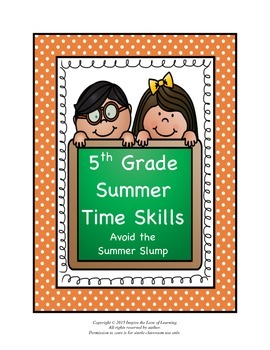 5th Grade Summer Time Skills