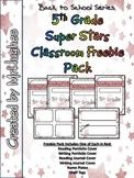 5th Grade Super Stars Classroom Freebie Pack