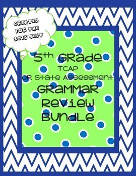 5th Grade TCAP or State Test Grammar Review Bundle