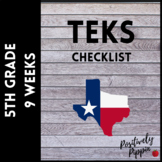 5th Grade TEKS Checklist (9 Weeks Checks)