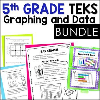 5th Grade TEKS Data & Graphs Bundle: Stem-and-Leaf, Scatterplot, and more!