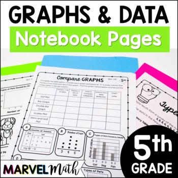 5th Grade TEKS Graphs Notebook: Scatterplot, Stem-and-leaf Plot, Dot Plot & More